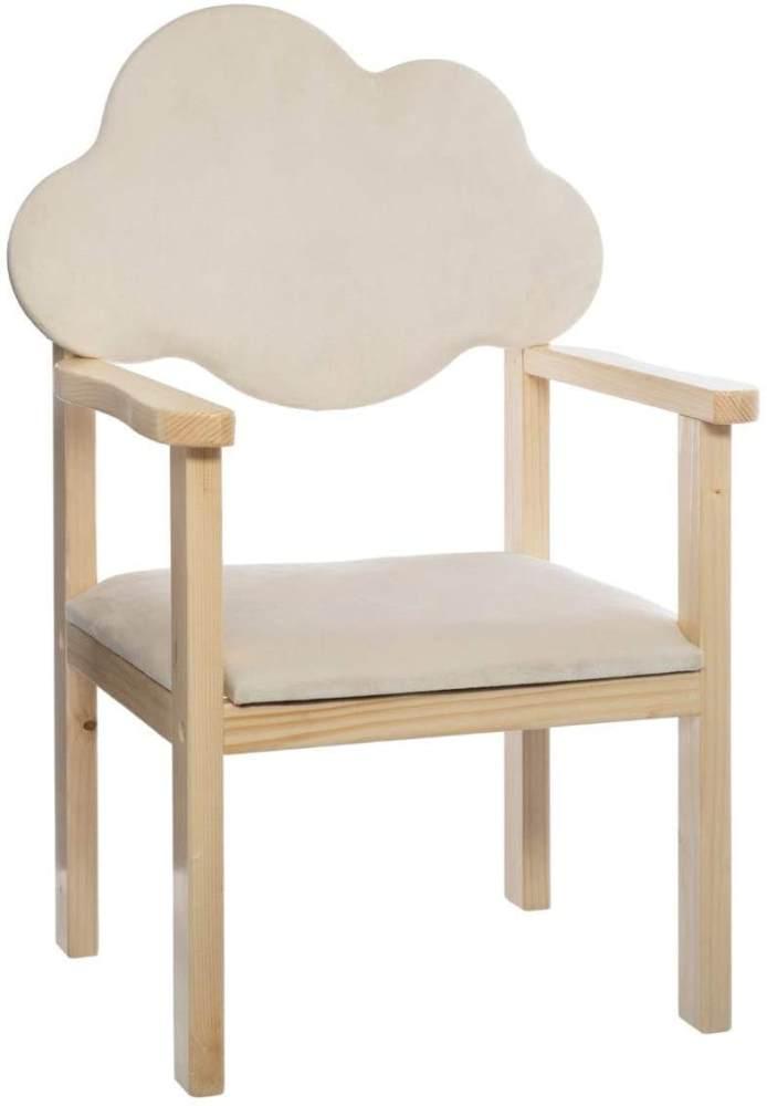 Kinderstuhl mit wolkenförmiger Rückenlehne, weiß Bild 1