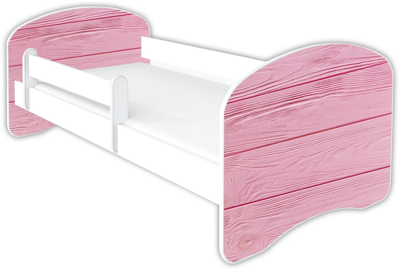 Clamaro 'Schlummerland Dekor' Kinderbett 80x160 cm, Design 27, inkl. Lattenrost, Matratze und Rausfallschutz (ohne Schublade) Bild 1