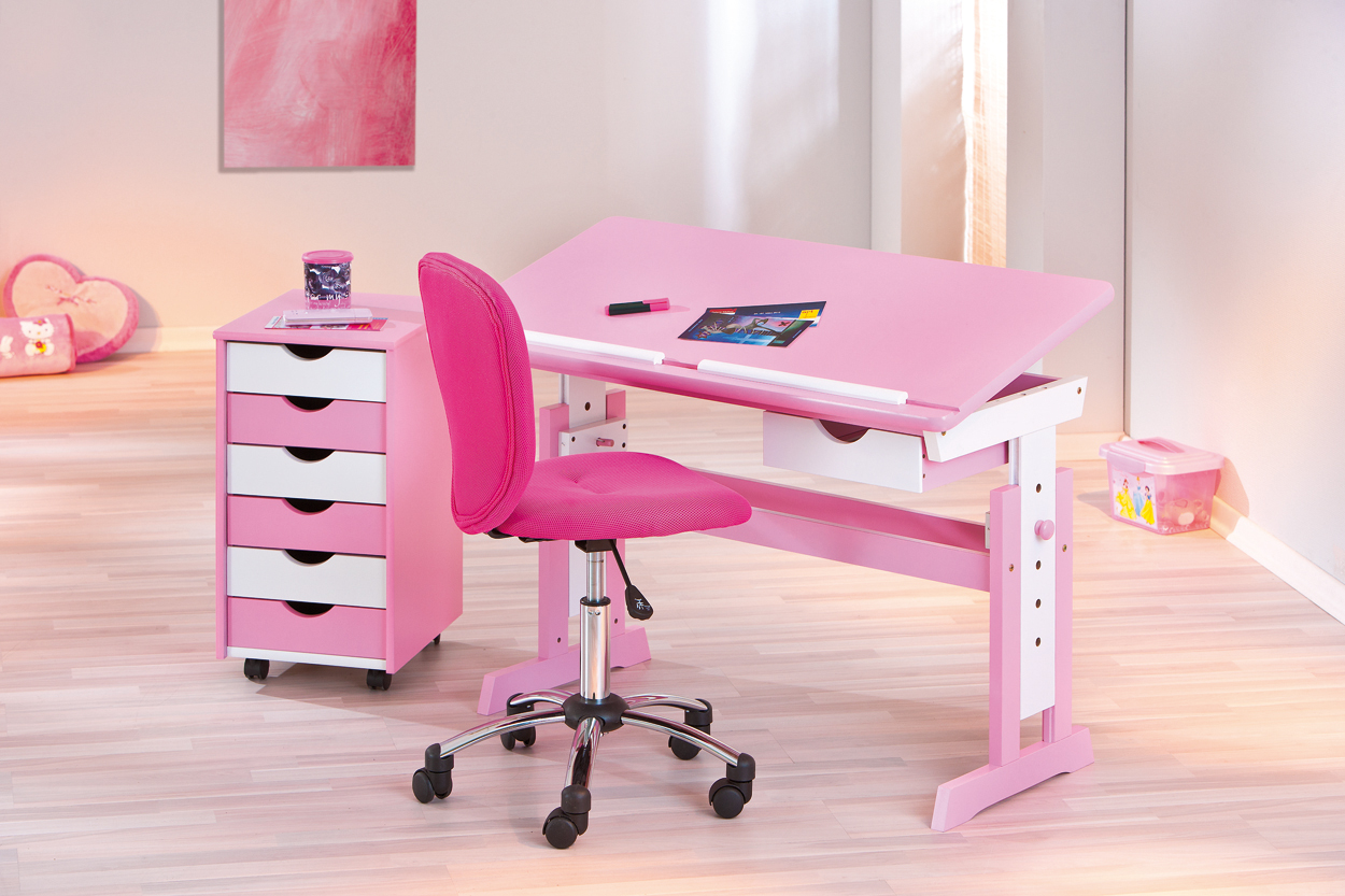 Kinderschreibtisch 'Cecilia' weiß/pink Bild 1