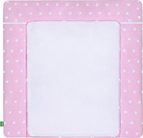 LULANDO 'White Stars' Wickelauflage 75 x 85 cm rosa/weiß Bild 1