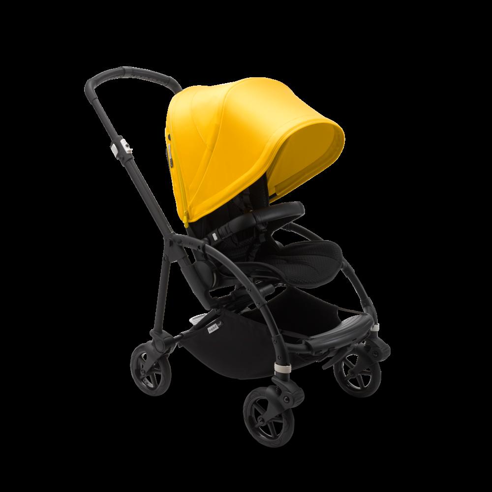 Bugaboo 'Bee 6' Kinderwagen Gestell Schwarz / Bezug Schwarz / Verdeck Gelb Bild 1