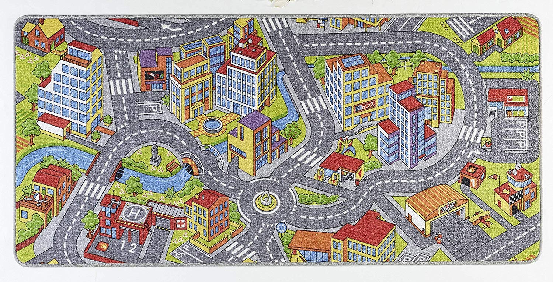 Hanse Home Spielteppich Kinderteppich Smartcity grau 200x300 cm Bild 1