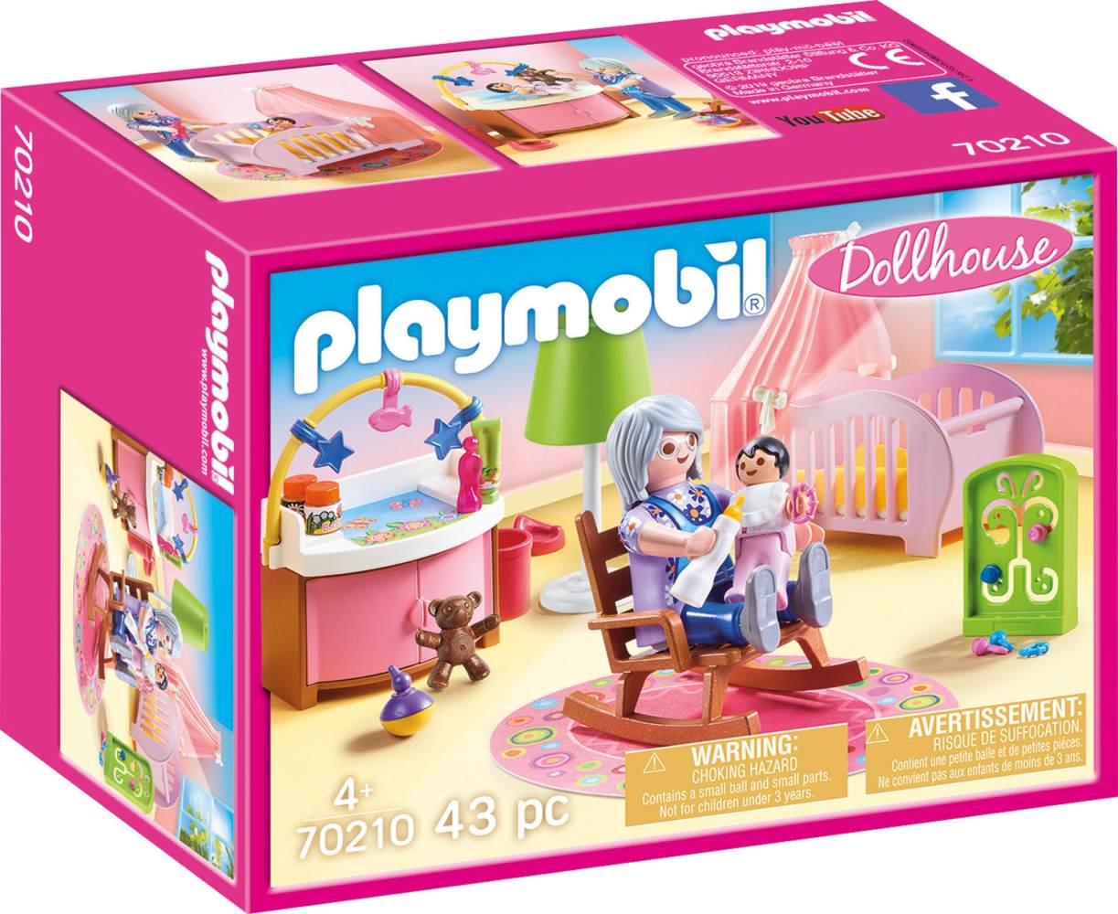 Playmobil Dollhouse 70210 'Babyzimmer', 43 Teile, ab 4 Jahren Bild 1