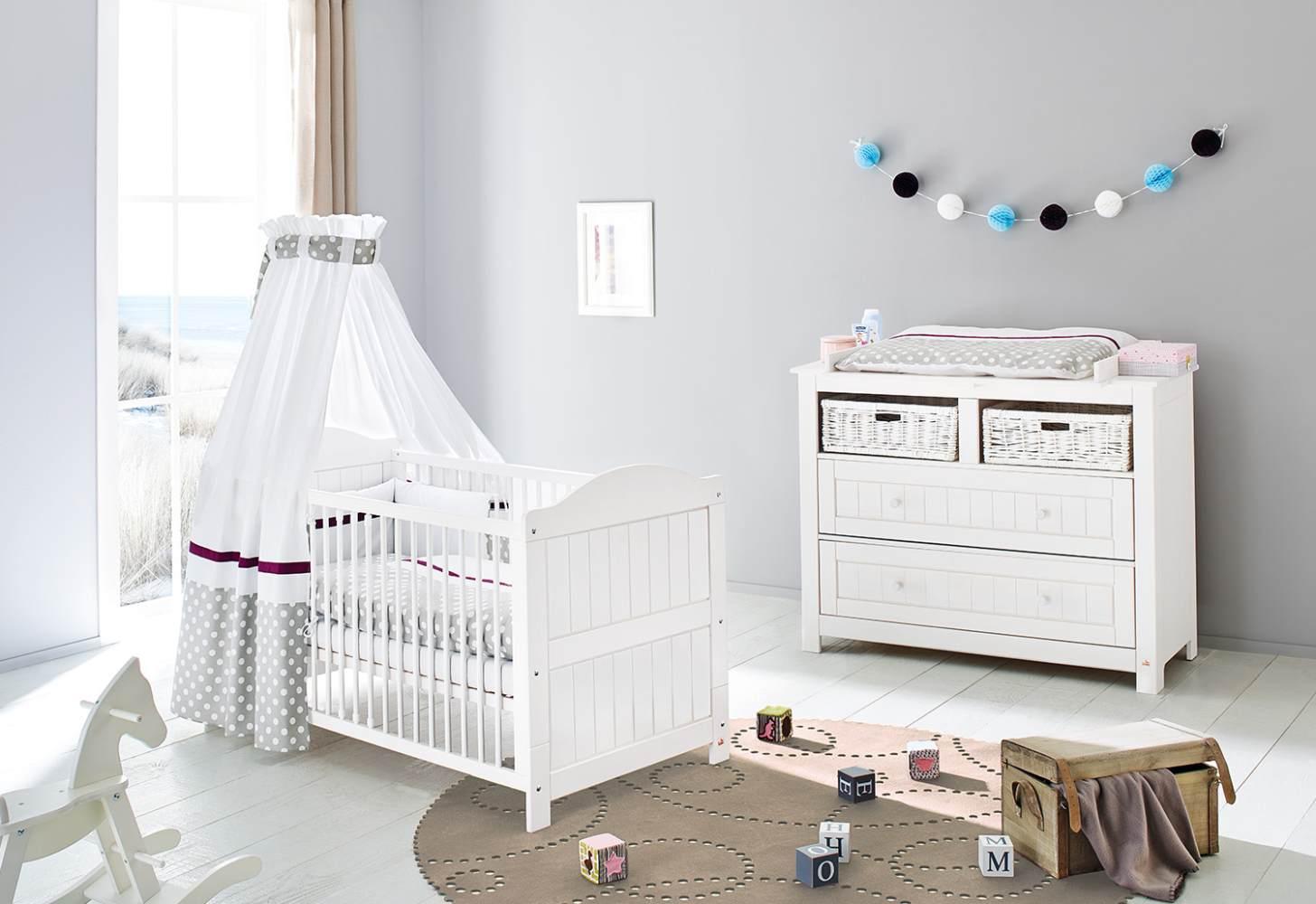 Pinolino 'Nina' 2-tlg. Babyzimmer-Set weiß, breit Bild 1