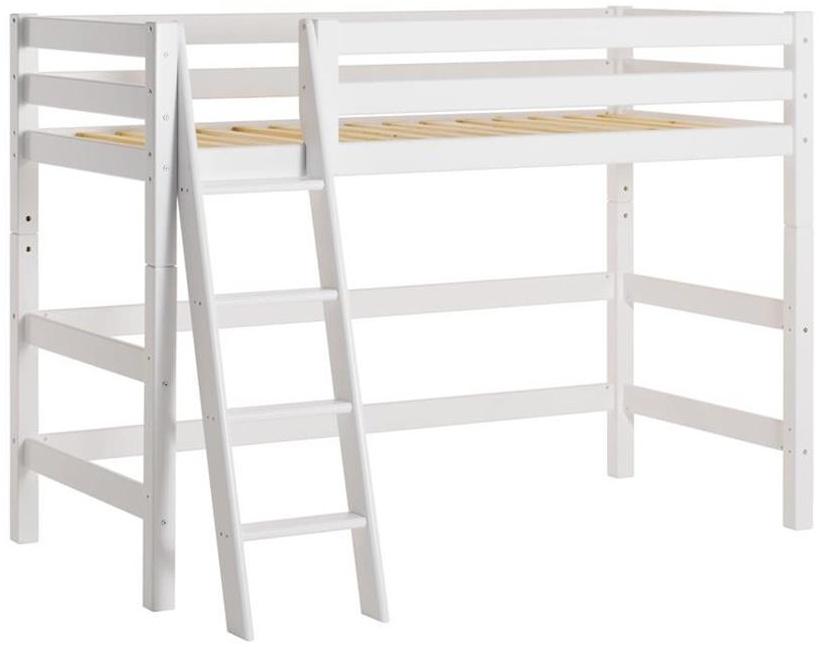 Hoppekids 'Premium' Hochbett 90x200 cm, weiß, inkl. Rollrost, schräge Leiter, nachhaltig Bild 1