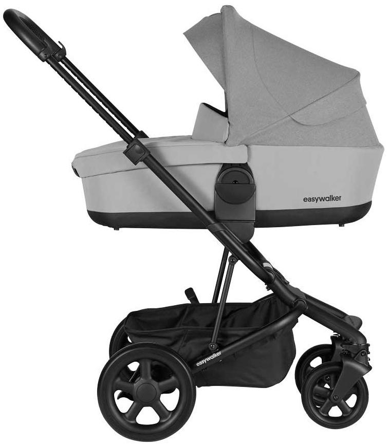 EasyWalker 'Harvey 2' Kombikinderwagen3in1 Stone Grey/Deep Black inkl. Babywanne Bild 1