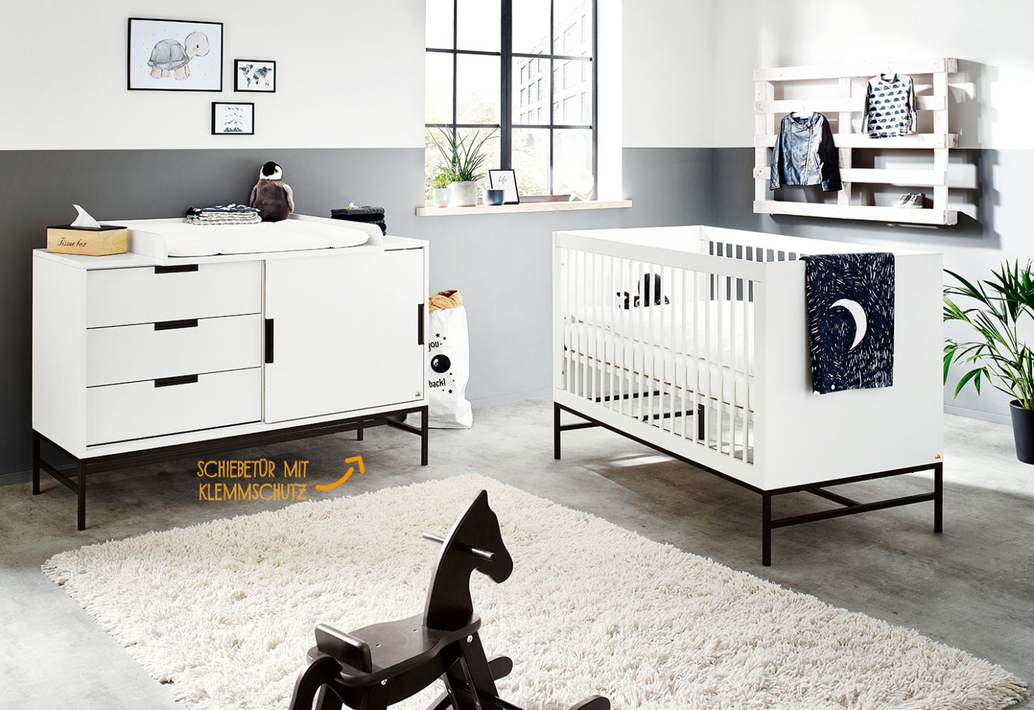 Pinolino 'Steel' 2-tlg. Babyzimmer-Set extrabreit Bild 1