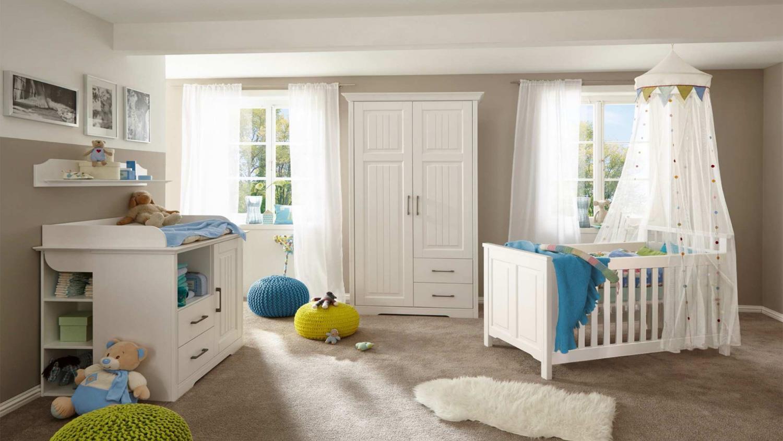 Schlafkontor 'KALAS' 5-tlg. Babyzimmer-Set weiß Bild 1