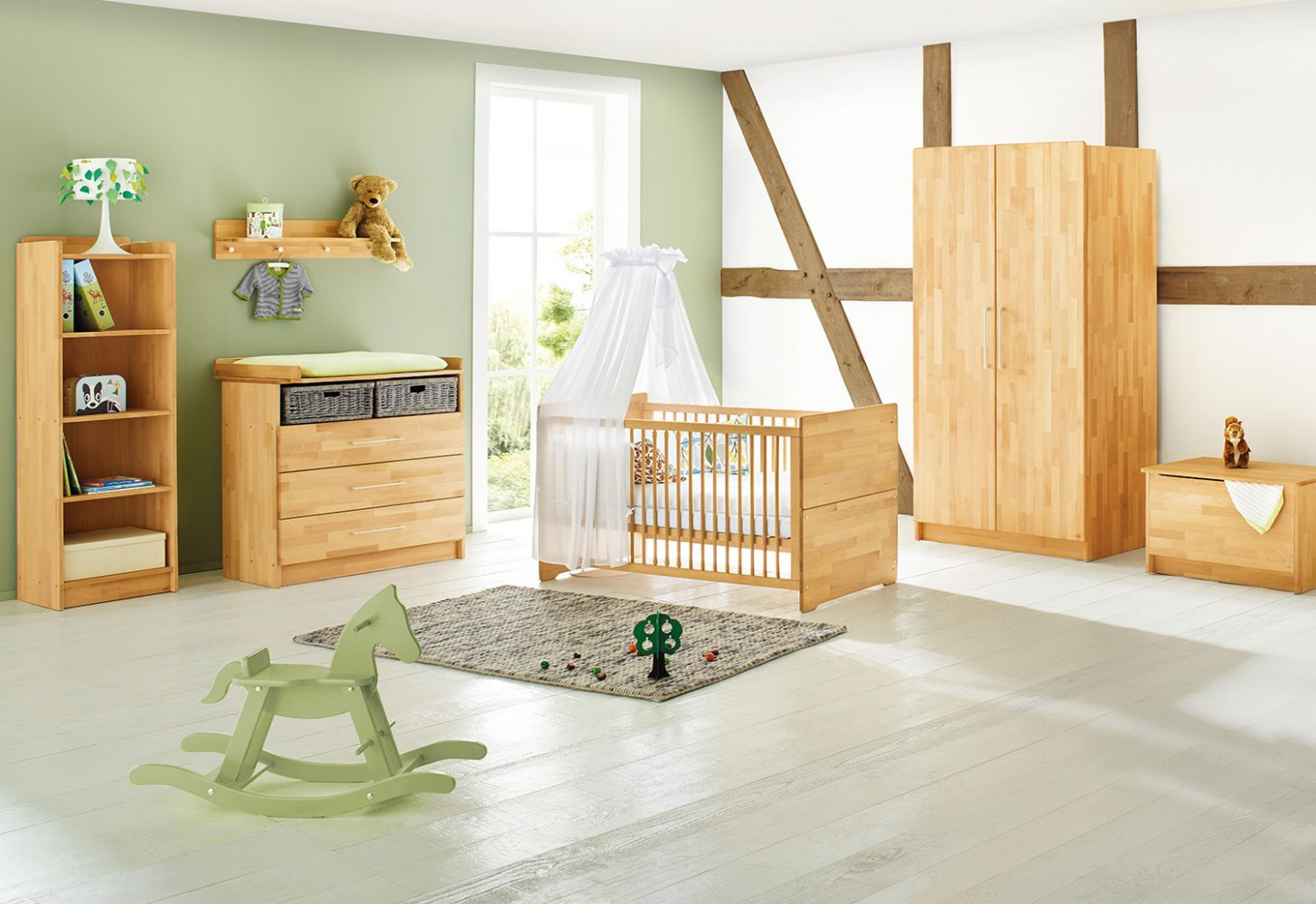 Pinolino 'Natura' 3-tlg. Babyzimmer-Set natur Bild 1