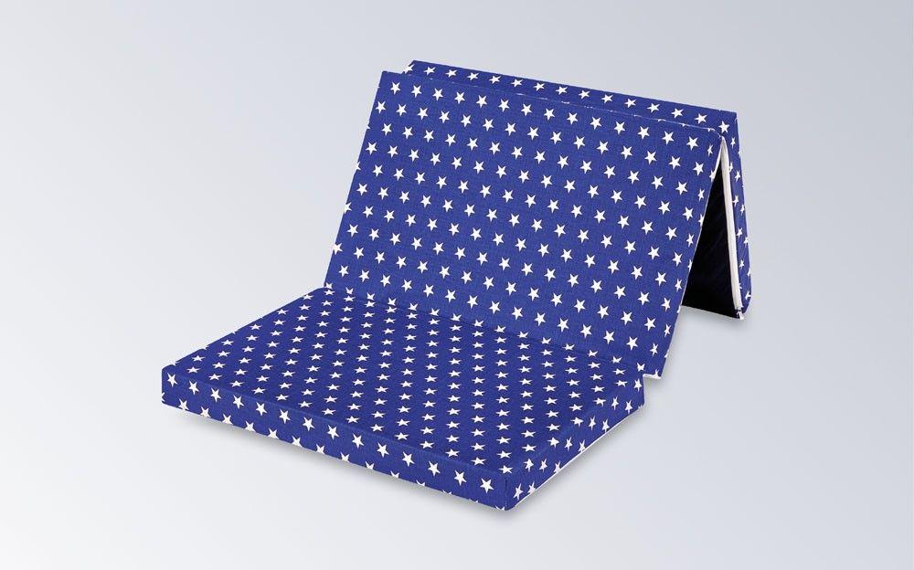 IWH 'Star' Kinder-Reisematratze 60 x 120 cm blau Bild 1
