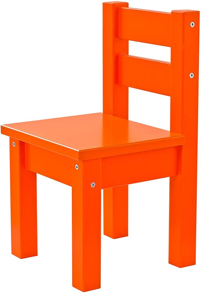 Hoppekids MADS, teilmassiv, sehr stabil, viele Farben, Holz, orange, 28 x 28 x 50 cm Bild 1