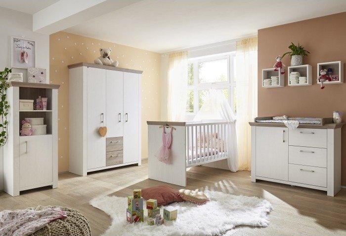 Babyzimmer New York 4 teiliges Megaset in Eiche San Remo von Mäusbacher Bild 1