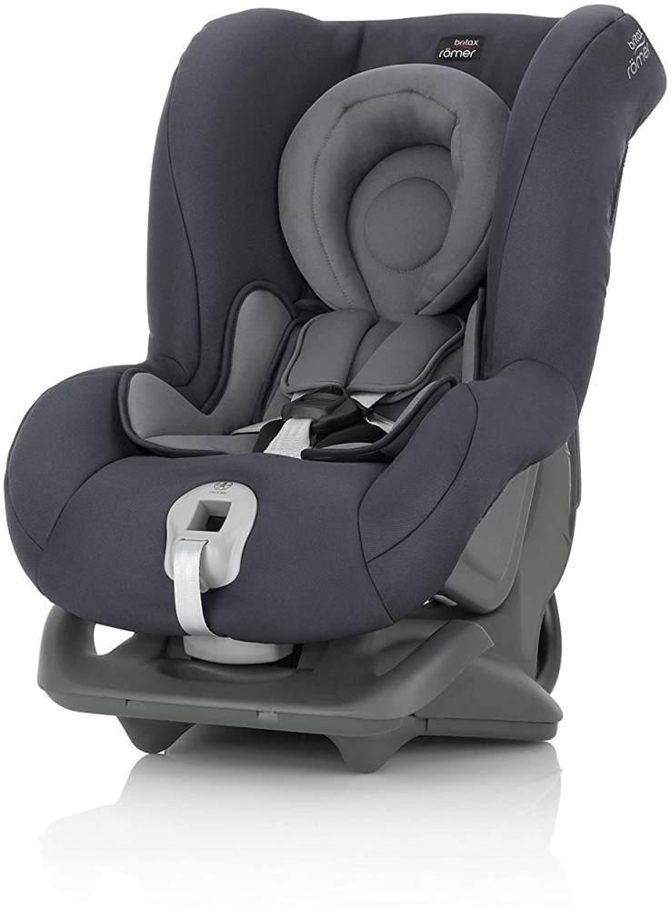 Britax Römer Reboarder Kindersitz 0 - 4 Jahre | 0 - 18 kg | First Class Plus Autositz Gruppe 0+/1 | Storm Grey Bild 1