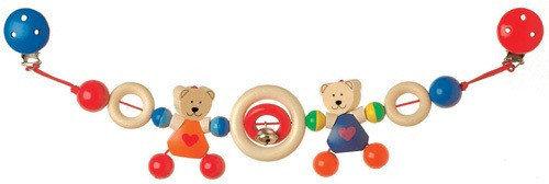 Heimess - Kinderwagenkette Herzbären Bild 1