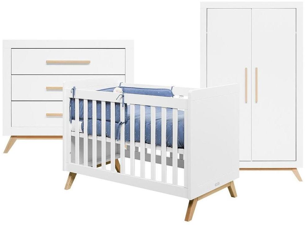 BOPITA 'Fenna' 3tlg. Babyzimmer Set weiß Bild 1
