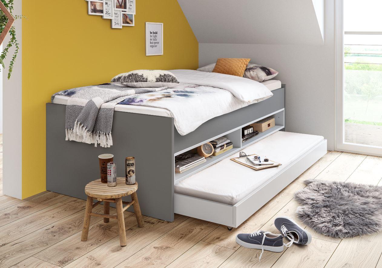 Röhr Bush HiLight Kojenbett mit Gästebett 150 100x200 - 190x190 cm Weiß   Weiß Bild 1