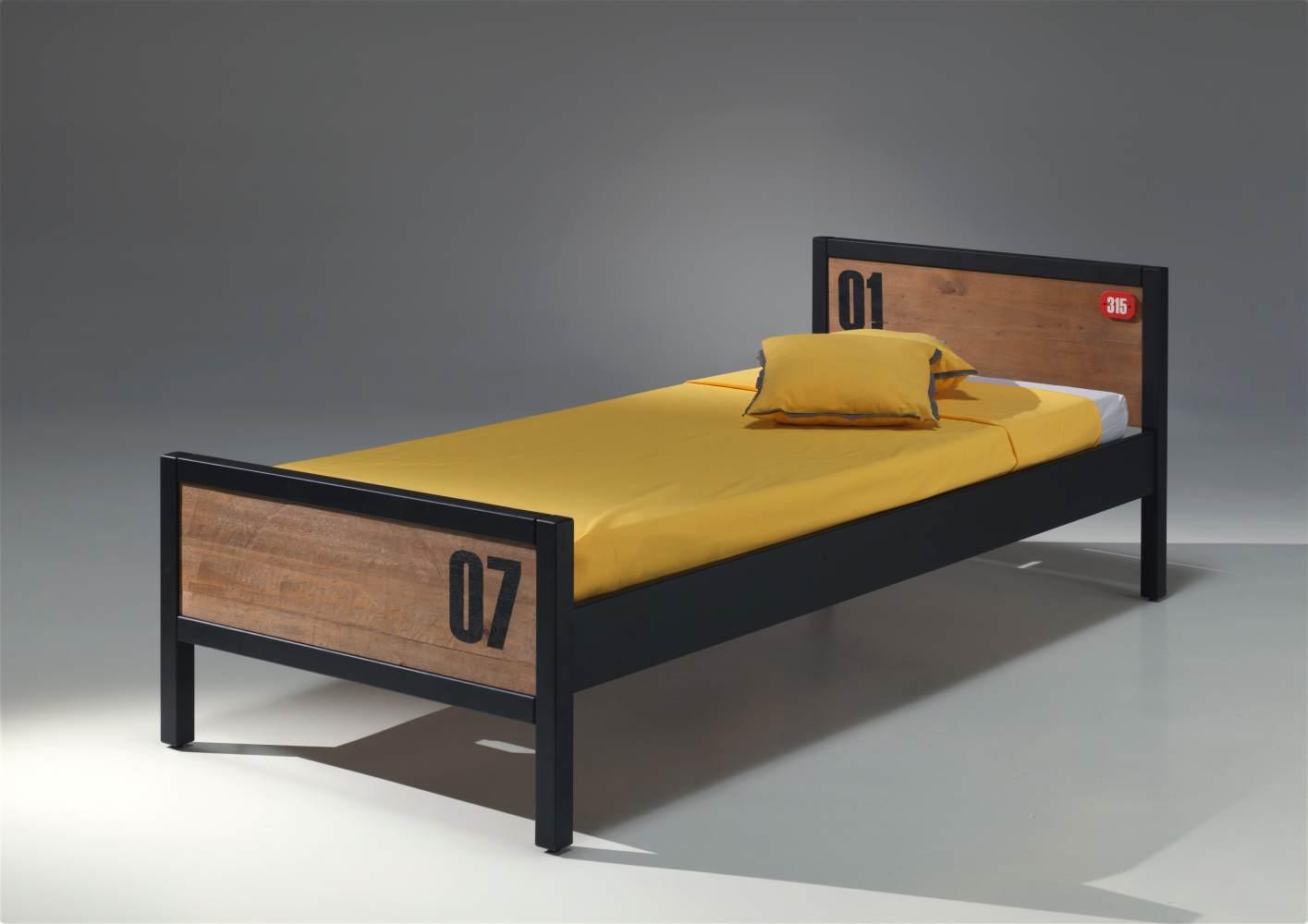 Vipack 'Alex' Einzelbett braun/schwarz Bild 1
