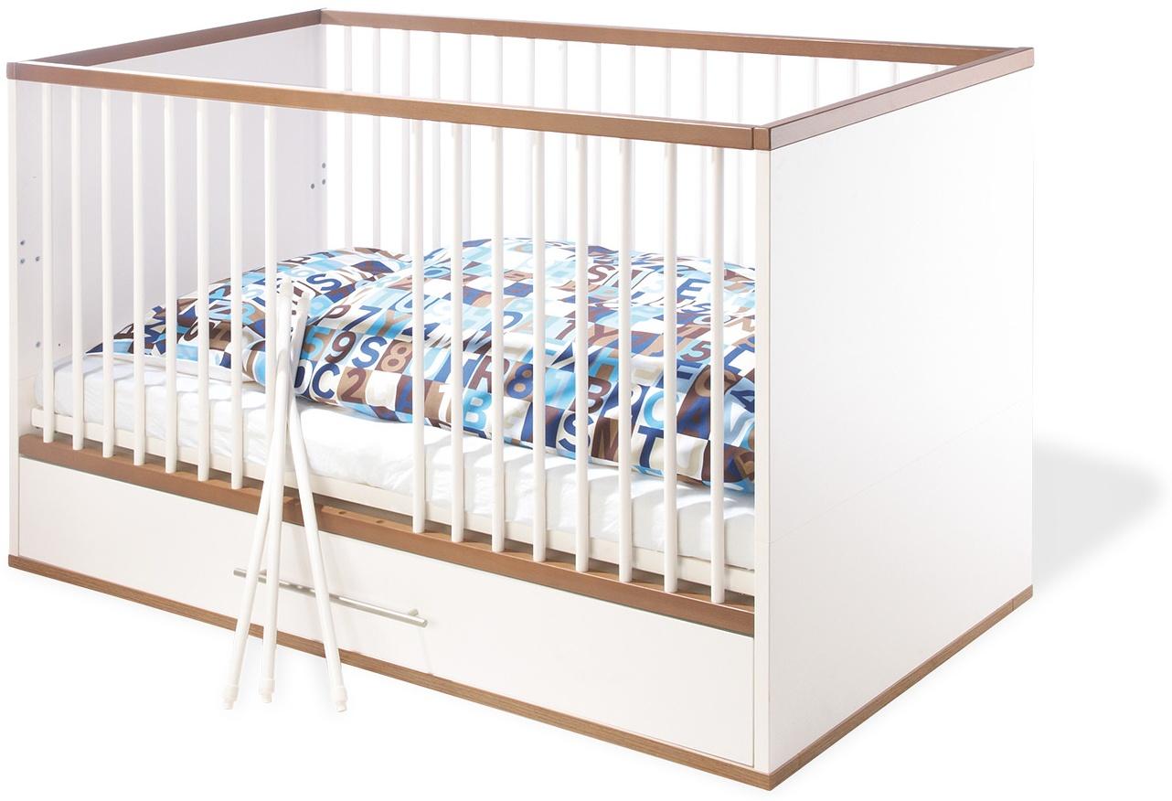 Pinolino 'Tuula' Kombi-Kinderbett weiß / natur Bild 1
