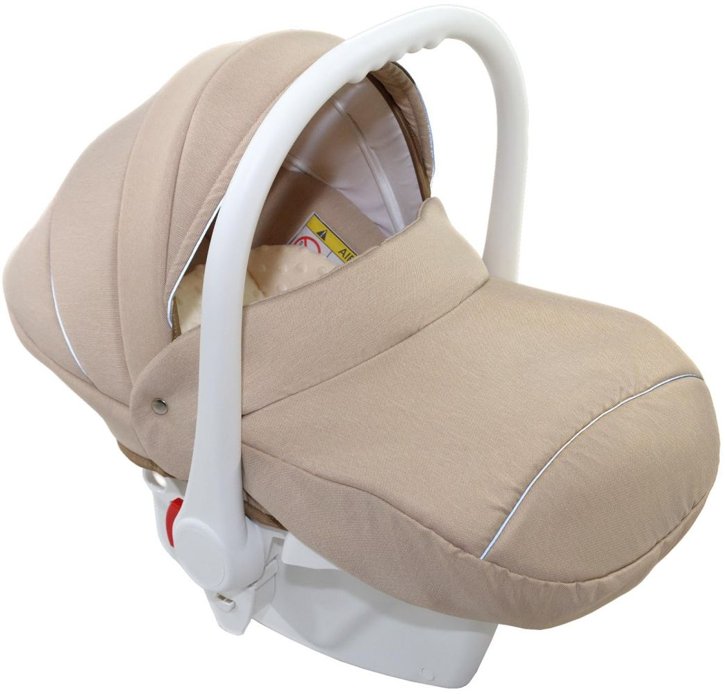 Clamaro Babyschale weiß/Leinen Beige Bild 1