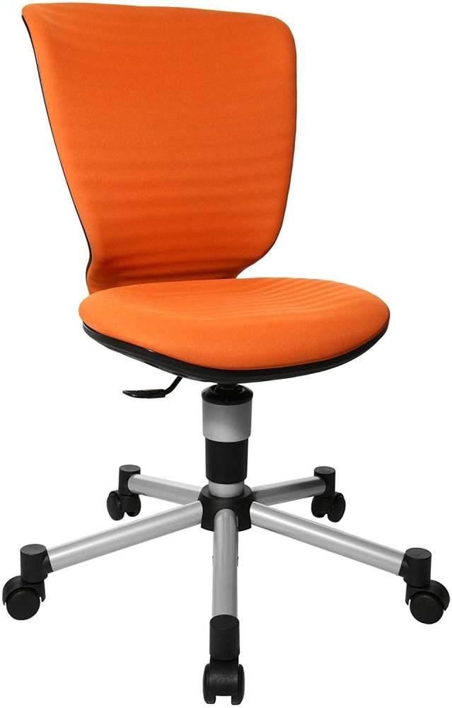 Topstar Titan Junior 3D, mitwachsender Kinderdrehstuhl, Schreibtischstuhl für Kinder & Jugendlinche, Stoff, orange, 45 x 45 x 100 cm Bild 1