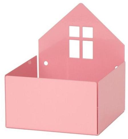 """Aufbewahrung für Pixibücher, """"Town Box"""" in Pastellrosa, aus Metall, von roommate Bild 1"""