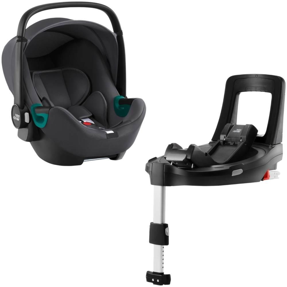 Britax Römer 'Baby-Safe 3 i-Size' Babyschale mit Flex Base iSense Schwarz Bild 1