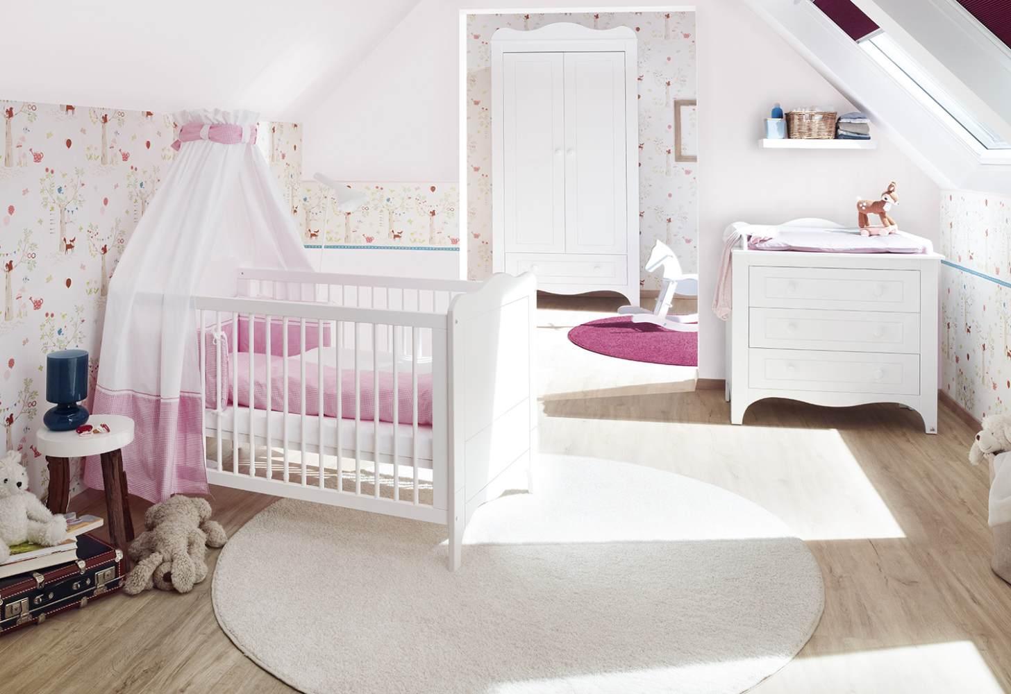 Pinolino 'Fleur' 3-tlg. Babyzimmer-Set weiß Bild 1