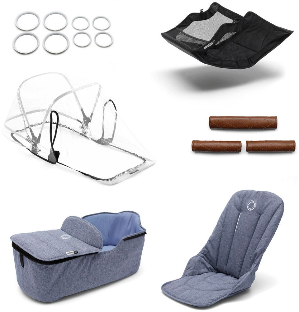 Bugaboo - Fox Style Set Box 2 Modell 2020 Blau Meliert Bild 1