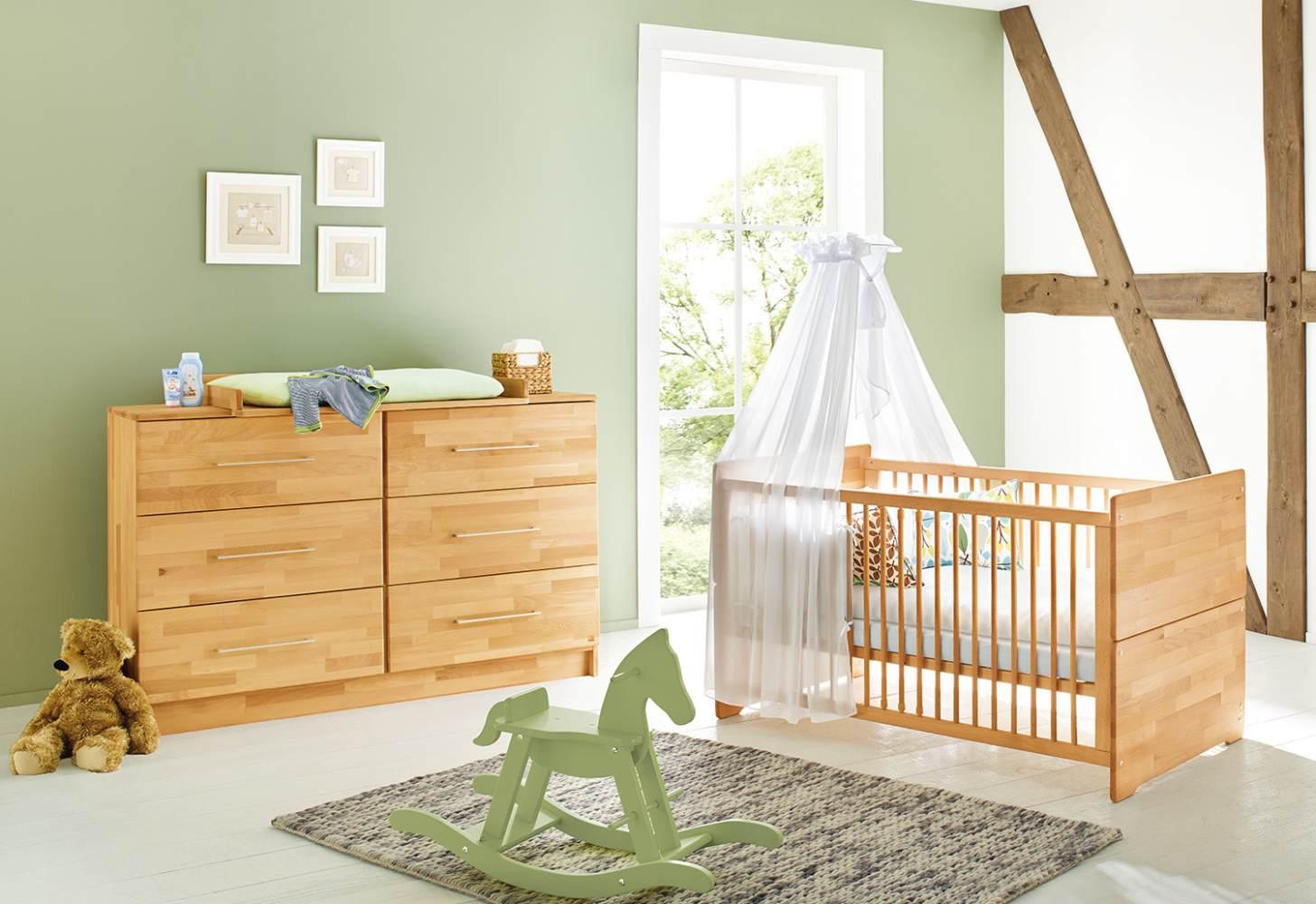 Pinolino 'Natura' 2-tlg. Babyzimmer-Set natur, breit Bild 1