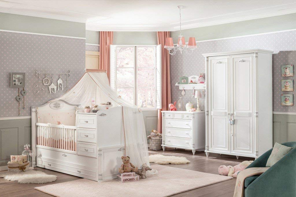 Froschkönig24 Cilek Romantic Baby 1 Babyzimmer Kinderzimmer Set Komplettset Spielzimmer Weiß Bild 1