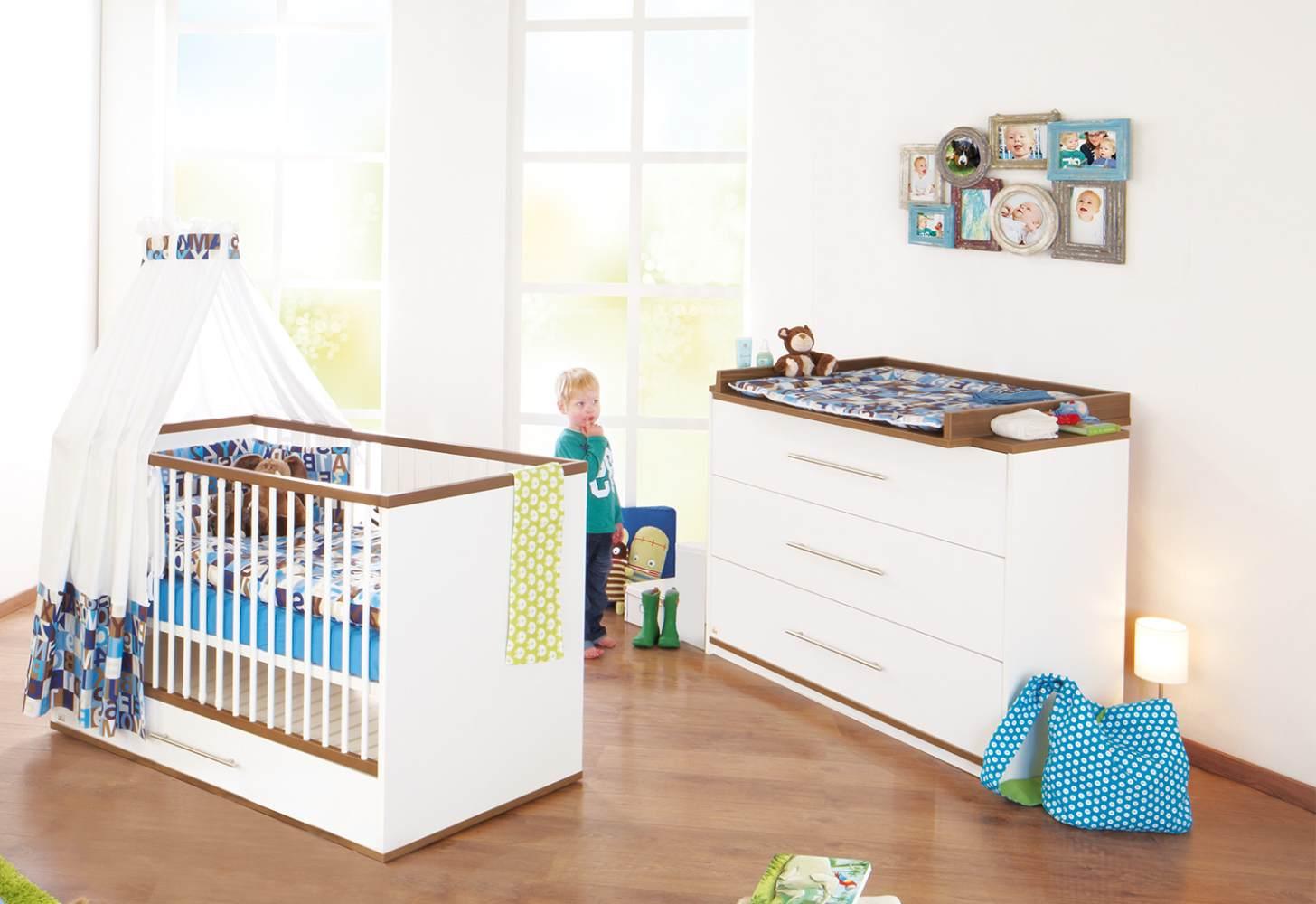 Pinolino 'Tuula' 2-tlg. Babyzimmer-Set weiß, breit Bild 1