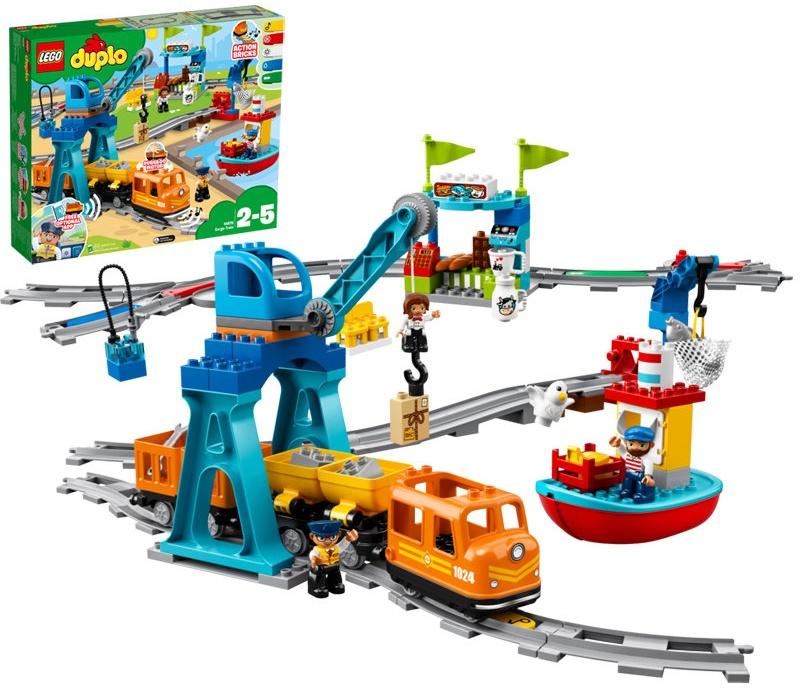 LEGO 10875 DUPLO Güterzug, Kinderspielzeug, Push & Go Motor Bild 1