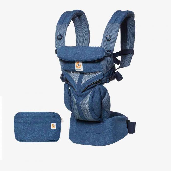 Ergobaby 'Omni 360' Babytrage 4-Positionen Cool Air Mesh Blue Blooms Bild 1