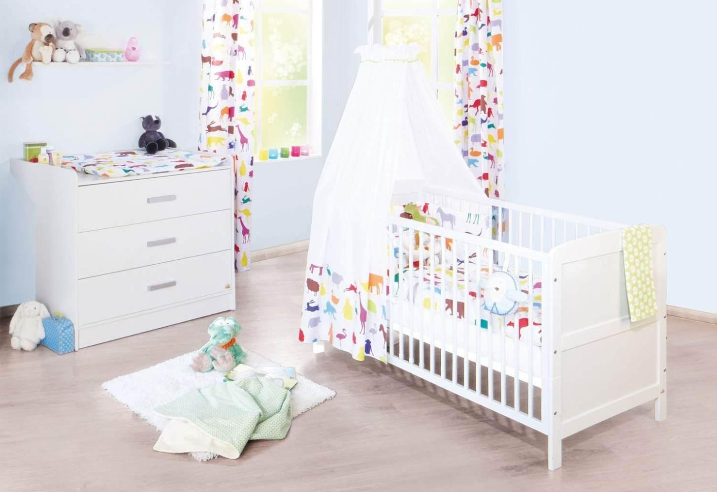 Pinolino 'Viktoria' 2-tlg. Babyzimmer-Set weiß, breit Bild 1