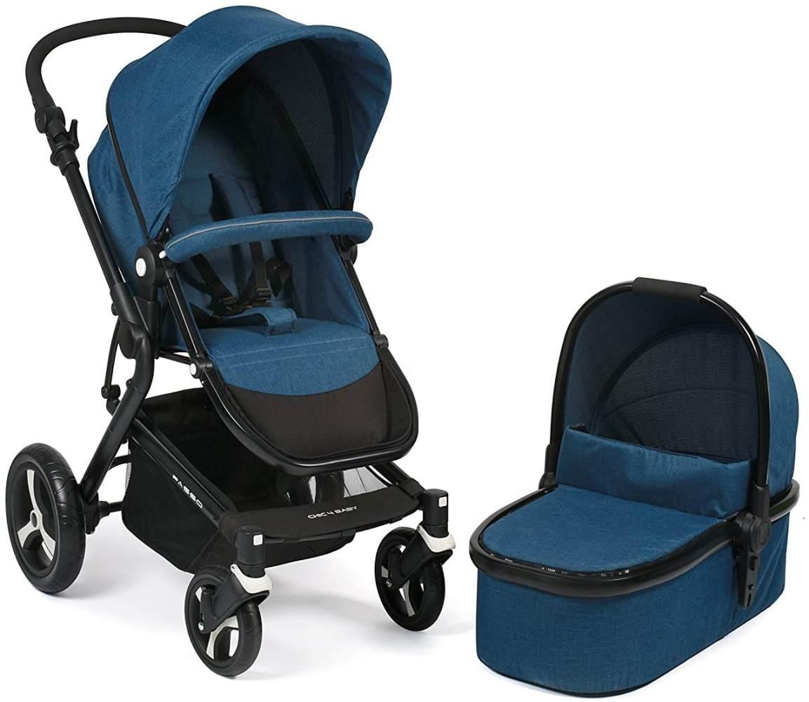 CHIC 4 BABY 163 36 Kombi-Kinderwagen Passo, melange blau Bild 1