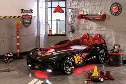 Cilek 'GTS' Autobett schwarz, mit LED-Beleuchtung und Sound