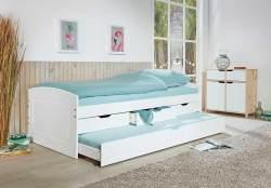 Interlink Kinderbett 'RIEKA' weiß, 90x200cm inkl. Schubladen