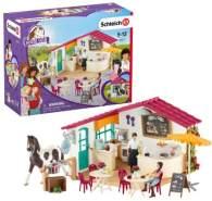 Schleich 'Horse Club' Reiter Café Spielfigurenset 42519, Spielzeug ab 5 Jahren, 67 Teile
