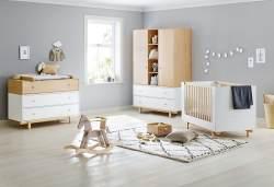 Pinolino 'Boks' 3-tlg. Babyzimmer-Set natur/weiß