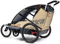 Leggero 'Vento R Active' Fahrradanhänger Surf, 2-Sitzer inkl. Jogger- & Buggyset