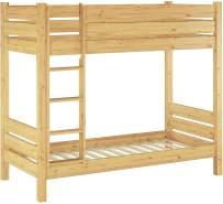 Erst-Holz Etagenbett Kiefer 90x190 cm, natur