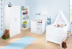Pinolino 'Viktoria' 3-tlg. Babyzimmer-Set weiß
