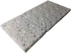 IWH 'Sterne' Reisematratze 60 x 120 cm, grau/weiß