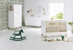 Pinolino 'Pan' 3-tlg. Babyzimmer-Set weiß, breit