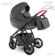 Camarelo Zeo - 3in1 Kombikinderwagen - Zeo-2 schwarz/ rot
