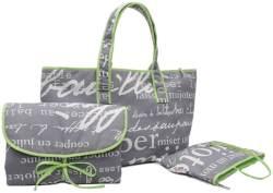 Belily World Paris Wickeltasche Set, Shopper Bag