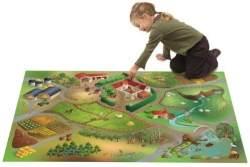 House of Kids 11223-E3 - Playmat Quadri Ferme Connect, 100 x 150 cm
