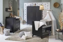 Schardt 'Miami Black' 3-tlg. Babyzimmer-Set, schwarz, 3-türiger Schrank