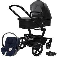 Joolz 'Day+' Kombikinderwagen Brilliant Black inkl. Cybex Cloud Z Plus Babyschale Nautical Blue