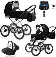 Bebebi Loving | 4 in 1 Kombi Kinderwagen | ISOFIX Set | Farbe: Black Ardent